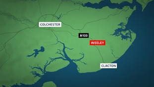 The crash happened in Weeley.