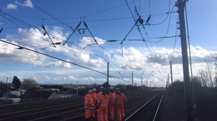 Overhead electric wire damage causing delays