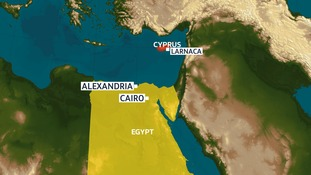 The hijacked Egyptair flight was a domestic internal flight from Alexandria to Cairo that was diverted to Cyprus.