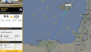 The path of the hijacked jet