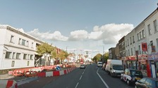 The accident happened in Mile End Road, close to its junction with Stayners Road