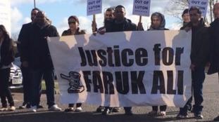Family and friends of Faruk Ali