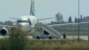The crew exits came after the vast majority of passengers were earlier freed from the hijacked plane at the Cypriot airport.