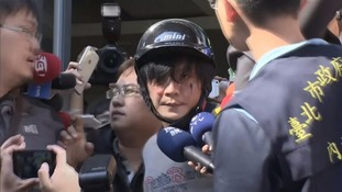 A 33-year-old was arrested by police and mobbed by demonstrators