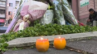 Floral tributes have been laid near to the scene