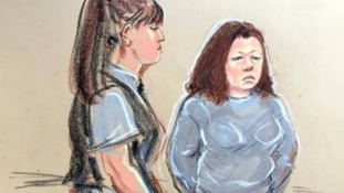 Court sketch of Kelly Mahon