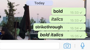 Here's how to bold, italicise and strikethrough text in WhatsApp