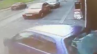 Driver ram-raids the Auto Shop in Rochdale