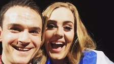Selfie! Daniel with Adele