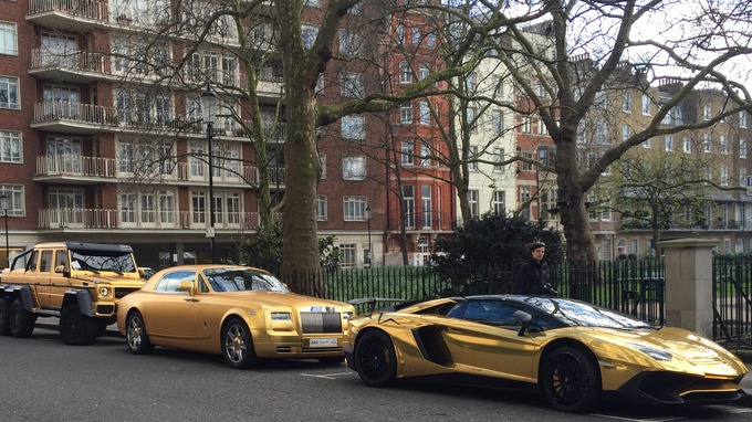Supercar Season Begins With Golden Fleet Of Saudi Cars London