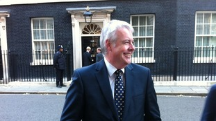 First Minister Carwyn Jones in Downing Street after meeting the Prime Minister