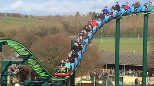 Rollercoaster riders urged 'not to scream' at Devon theme park