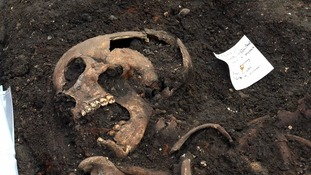 One of the skeletons discovered in the dig.