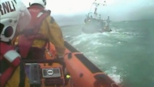 RNLI crew at sea