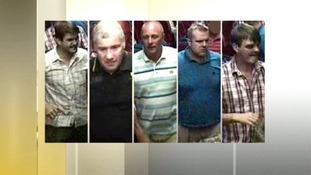 Five wanted in connection with train assault