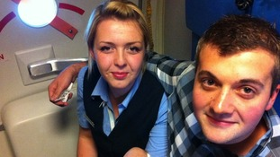 Love in the air for unsuspecting air-hostess