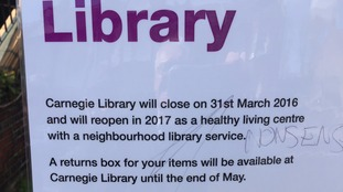 Carnegie Library is due to close today