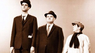 Masters of Comedy: John Cleese, Ronnie Barker and Ronnie Corbett during a sketch for The Two Ronnies