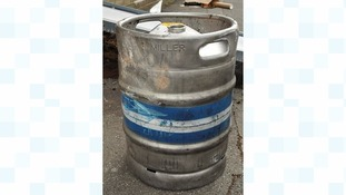 Steel beer barrel