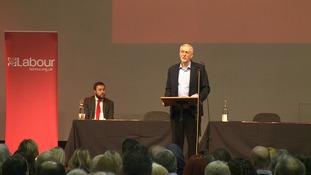 Jeremy Corbyn in MIlton Keynes