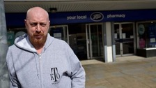 Kenny wrestled the thief to the ground after he stole from Boots in Droylsden