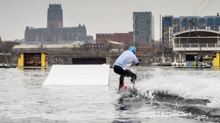 Mikey Pinder uses wakeboarding to help his confidence