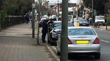 Armed police were called to the scene as 'a precaution'