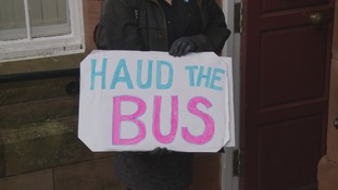 Campaigners handed in a petition against the cuts to evening and Sunday services earlier this week.