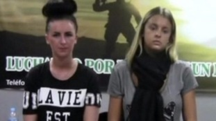 Michaella McCollum (left) and Melissa Reid (right) were jailed in 2013