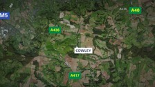 The attack took place in the village of Cowley between Cheltenham and Cirencester