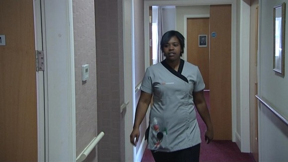 Nikala Ottley now has a job as a care worker in an old people's home.