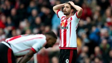 Sunderland's Fabio Borini looks dejected during the Barclays Premier League match at the Stadium of Light, Sunderland.