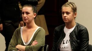 Michaella McCollum (left) and Melissa Reid in court in 2013.
