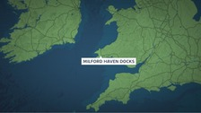 The 24 year old crewman went missing in Milford Haven Docks