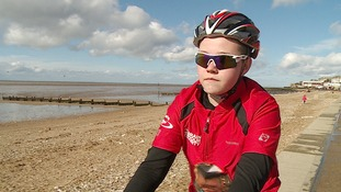 Charlie Nelson has spent days on a charity cycle ride