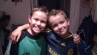 Charlie with his little brother Reece