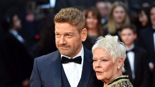 Dame Judi with Kenneth Branagh before the ceremony in London.
