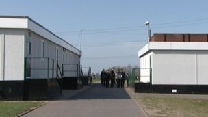 Mobile classrooms at Perryfields High School