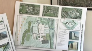 The proposed plans for the new school block