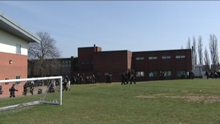 The school playing fields before the revamp