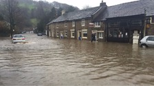 Whalley in Lancashire following floods.