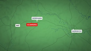 The crash has closed the A47 at Scarning