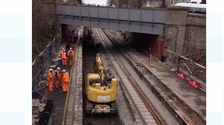 Work begins on the Bath to Bristol line