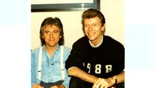 George Underwood with his friend David Bowie