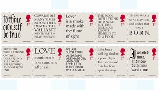 Royal Mail to honour power of Shakespeare's writing with special set of stamps