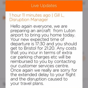 Passengers were being fed limited information through Easyjet's flight tracker