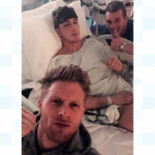 Nick Blackwell with brother Dan and close friend Jake