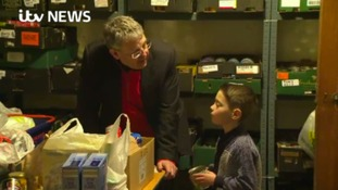 Ronnie at foodbank