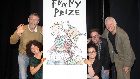 Pictured in London in 2011, Roald Dahl Funny Prize Judges.