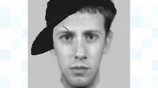 The e-fit image of a man police would like to trace after a teenage girl was grabbed in Dunstable.